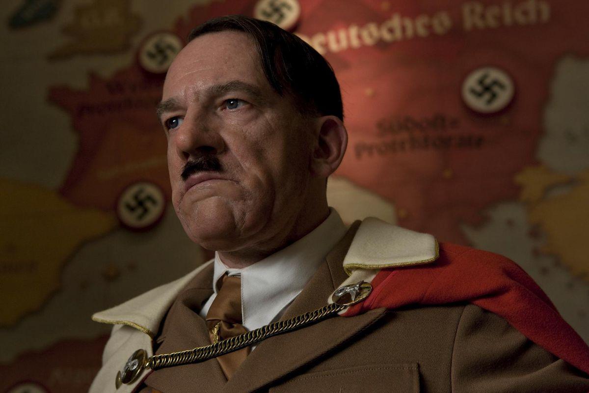 Adolf Hitler (Martin Wuttke) in Inglourious Basterds, the best Hitler-killing fantasia.