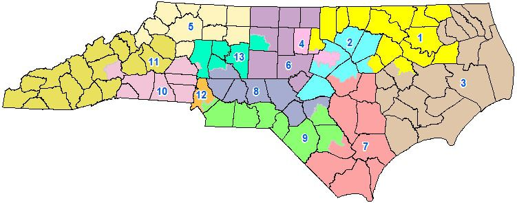 Map Of Georgia 12th Congressional District.2018 Midterms North Carolina S Extreme Gerrymandering Could Save
