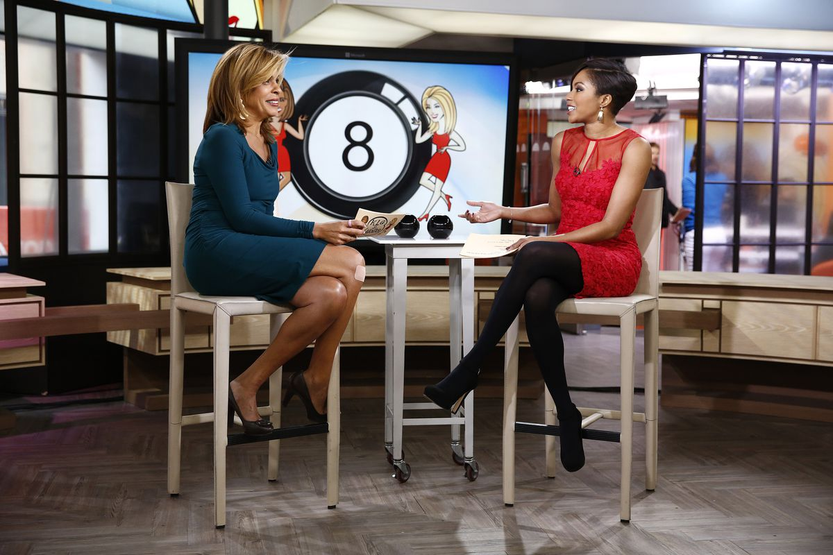Hoda and Alicia clearly asking the Magic 8 Ball about Aston Villa