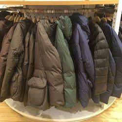 Women's down shaped line jacket, $170