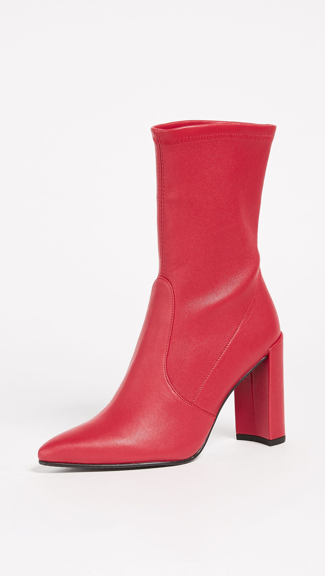 Red Stuart Weitzman ankle boots