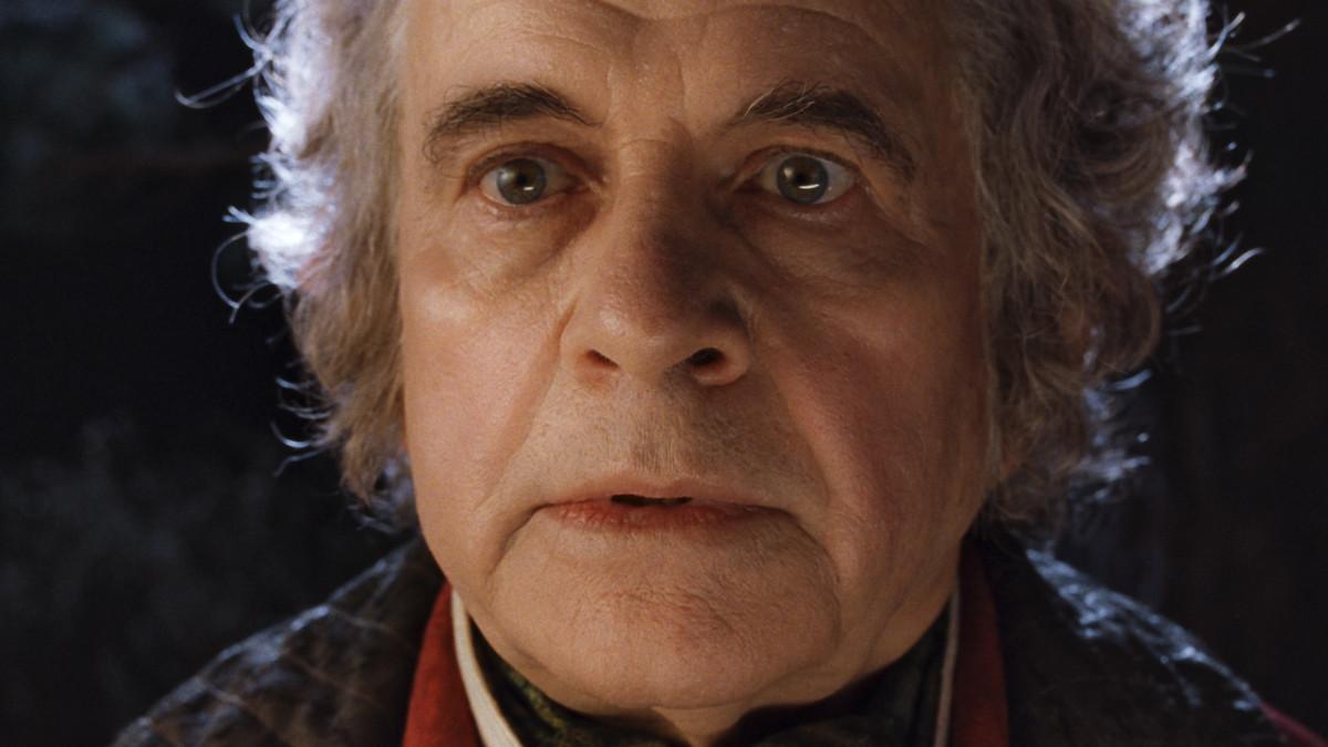 Bilbo Baggins at his party in Hobbiton