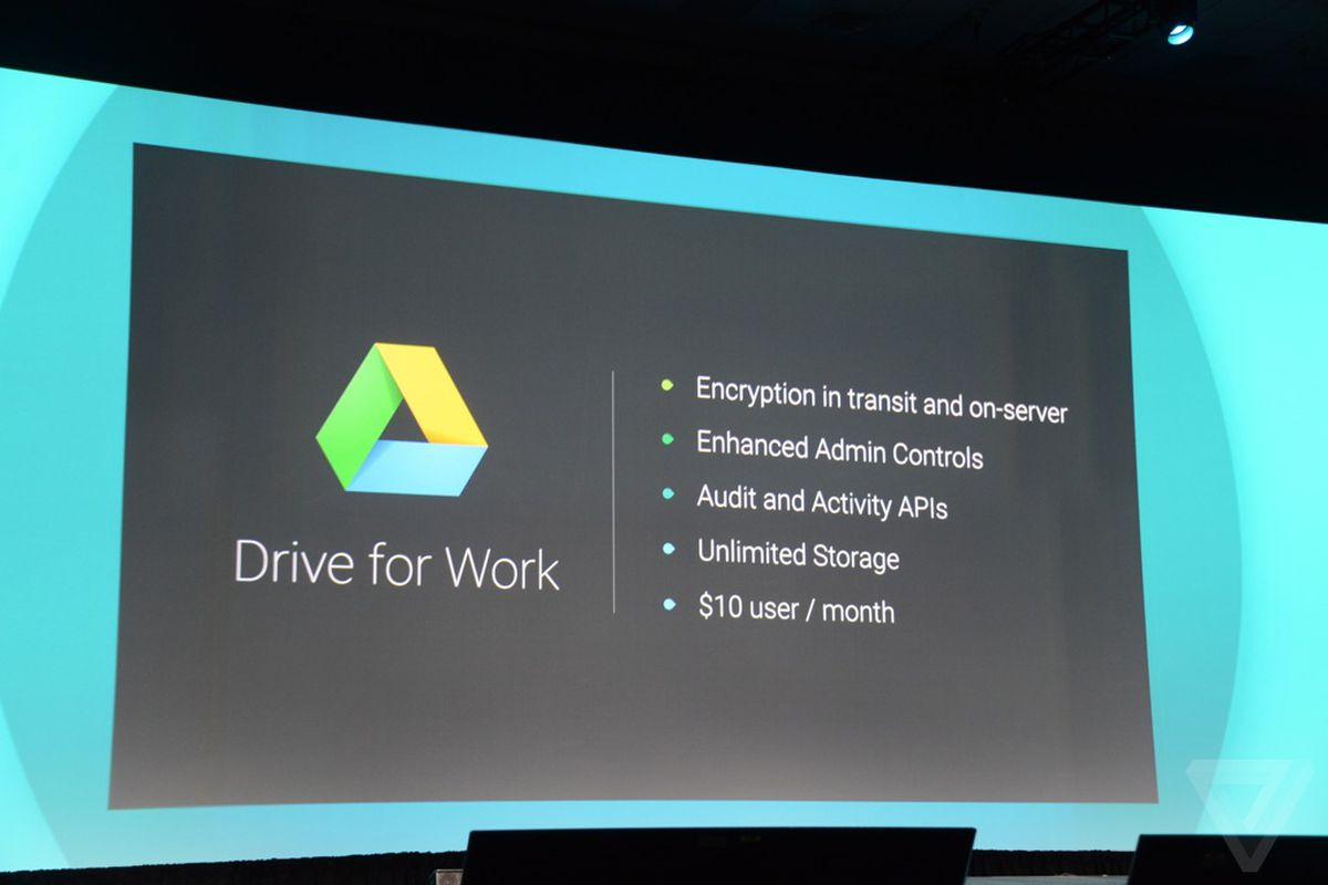 Google announces drive for work with unlimited storage at $10 a