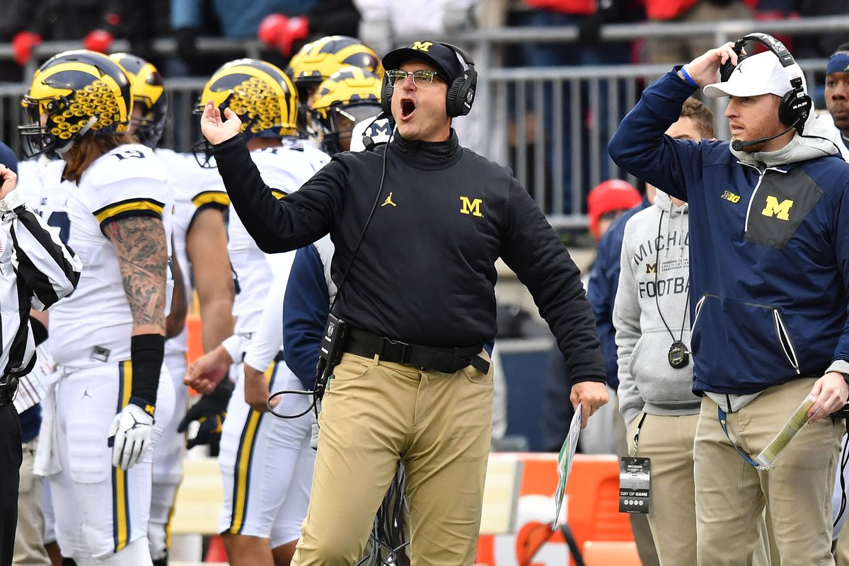 new arrivals f009c 59b5f Jim Harbaugh, who makes  7 million a year, unhappy with tactics of  football  factories