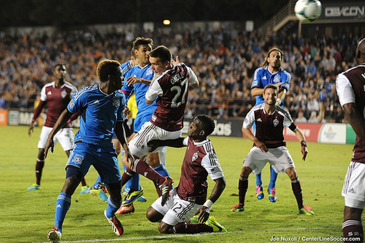 Chris Wondolowski scores the game winning goal for the San Jose Earthquakes in a 1-0 win against the Colorado Rapids