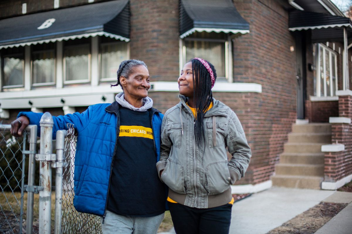 Margaret Bingham and her daughter Mariah Bingham at their current home in Chicago, Tuesday, March 3rd, 2020.