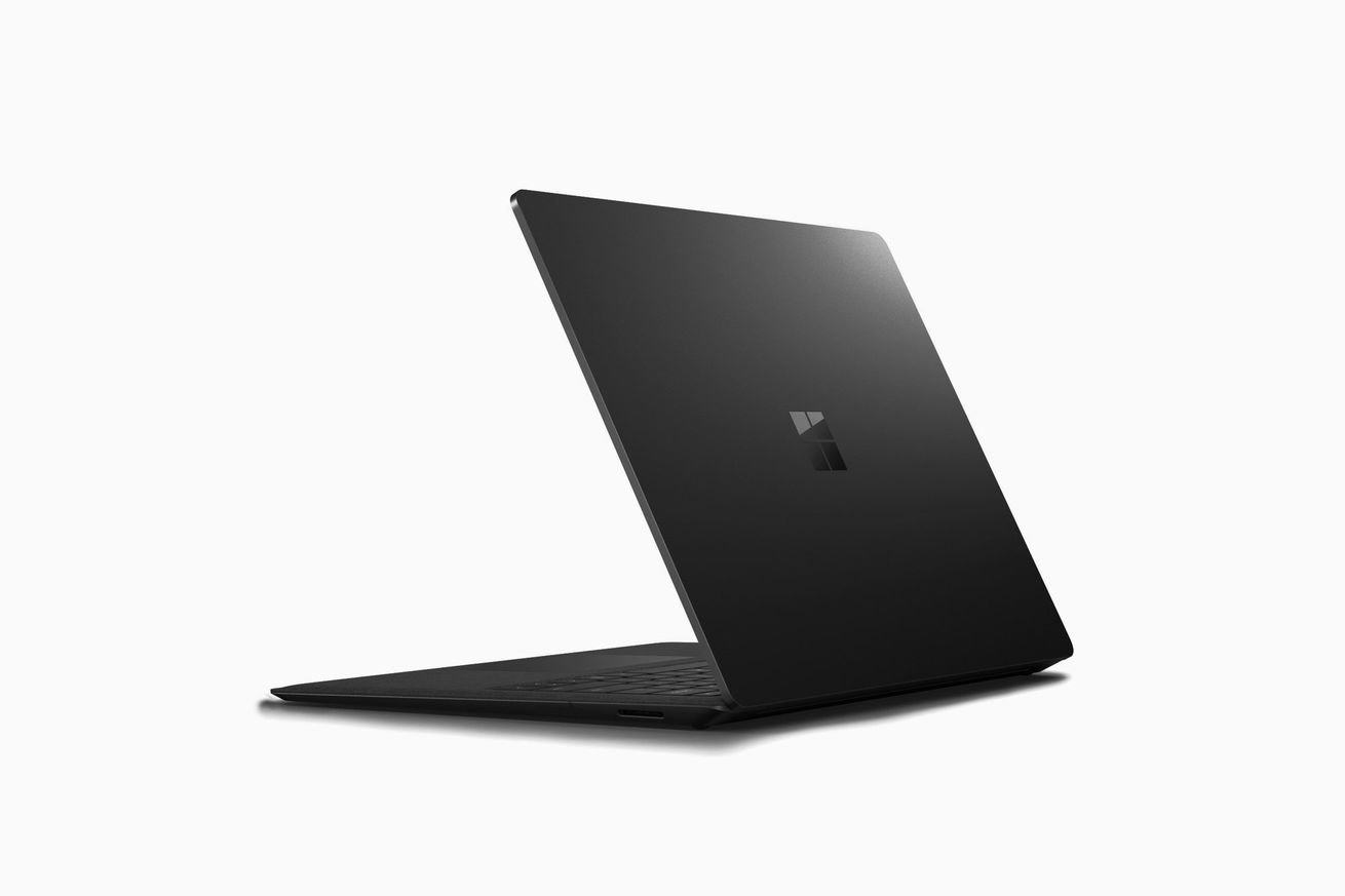 Surface Laptop 2 in black mockup