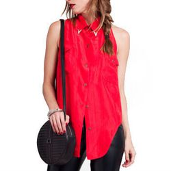 """<b>The Reformation</b> Waverly blouse, <a href=""""http://thereformation.com/WAVERLY-BLOUSE.html"""">$145</a>"""