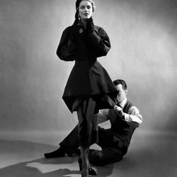 James with a model, 1948, photographed by Cecil Beaton.