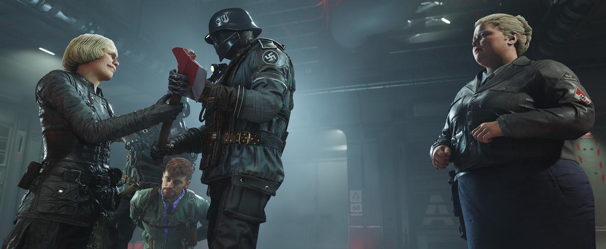 Wolfenstein 2: The New Colossus - Nazis preparing to torture prisoner