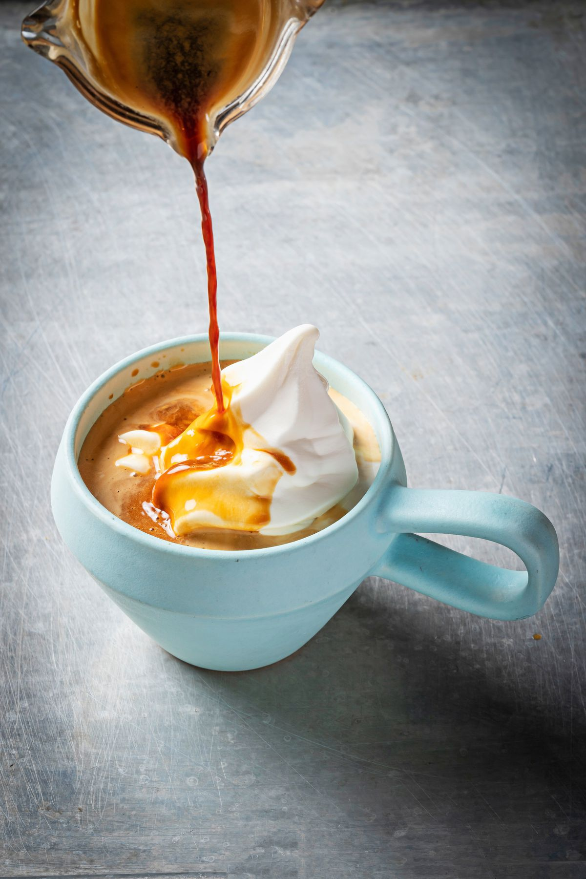 Yellow offers espresso with a floater of labneh soft serve