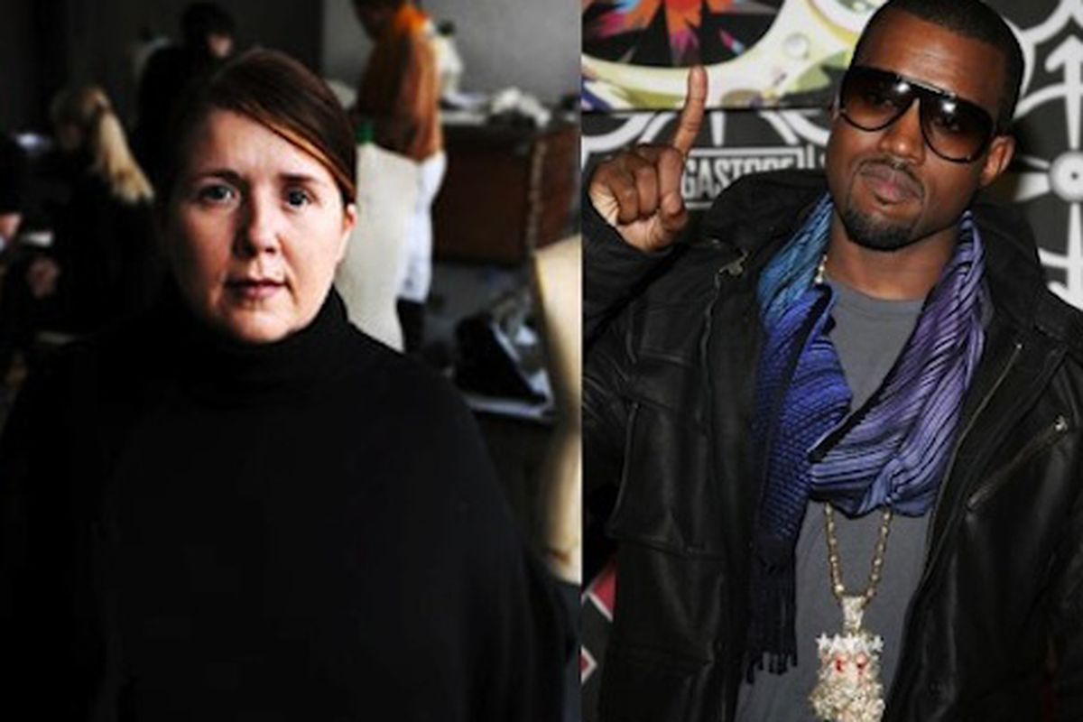 Professor Louise Wilson, left, holds Kanye West's fashion future in her hands