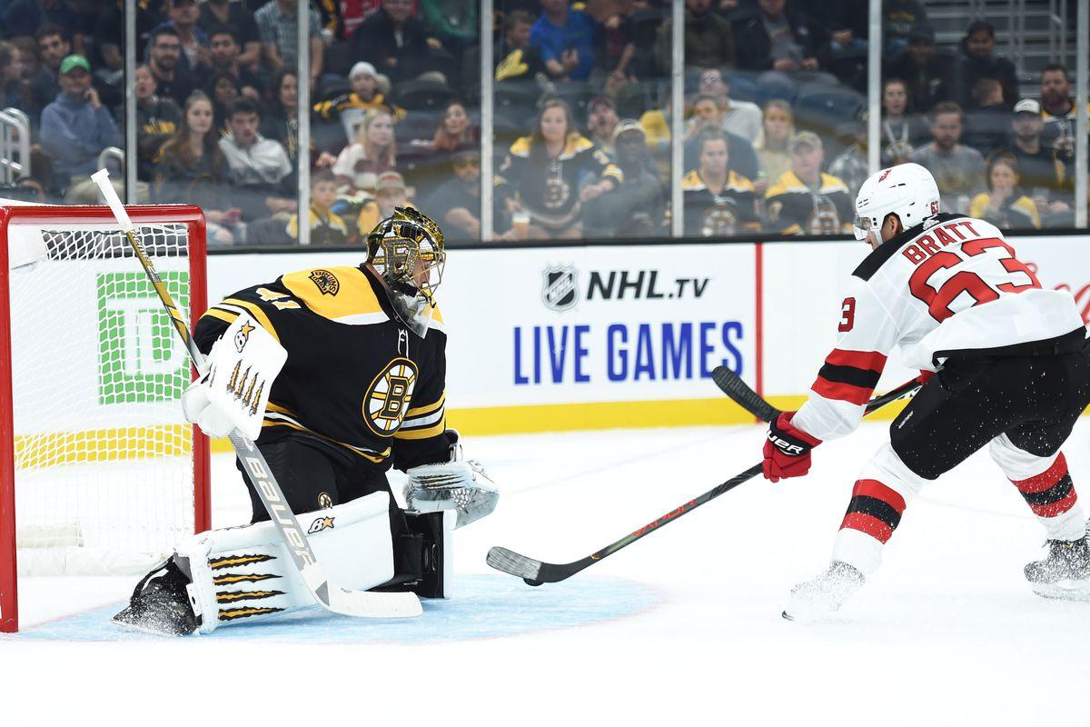 NHL: Preseason-New Jersey Devils at Boston Bruins