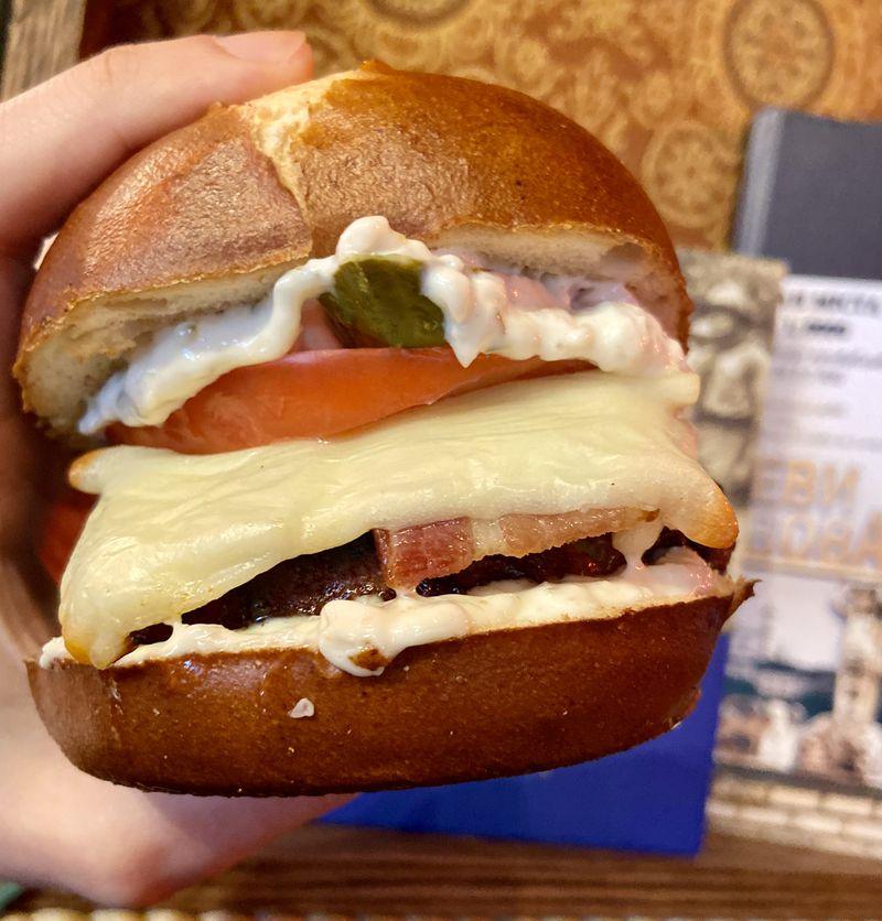An Eastern European burger made of pork