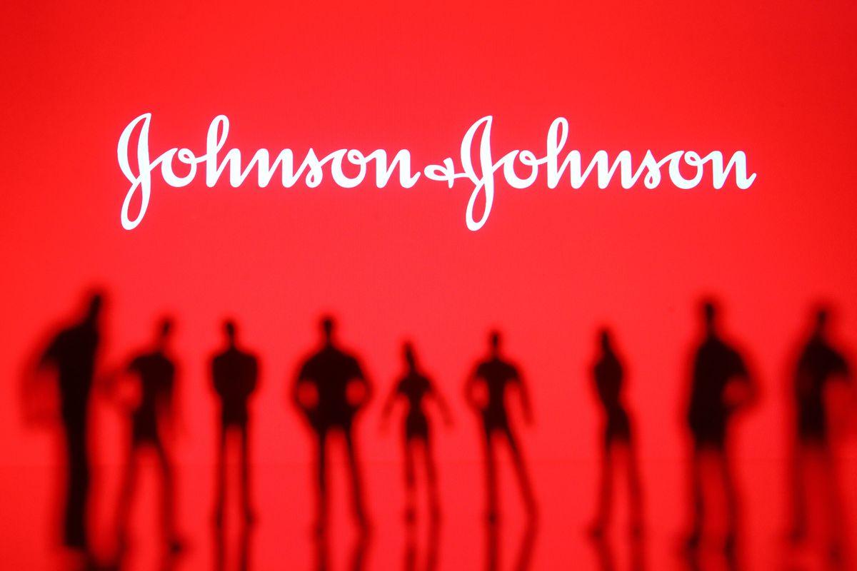 In this photo illustration a Johnson & Johnson logo is seen...