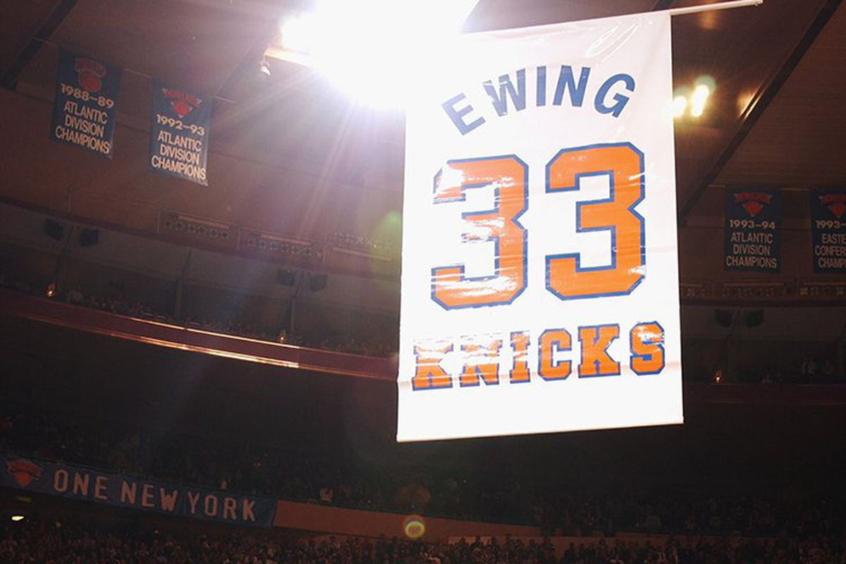 classic fit 10a43 2ffe1 This week in Knicks history: Patrick Ewing's jersey gets ...