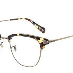 """<strong>Oliver Peoples</strong> Banks in Dark Tortoise Brown/Antique Gold, <a href=""""http://www.oliverpeoples.com/shop/product/banks?color=1587"""">$390</a>"""