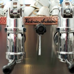 Even the espresso machine fits Michelle's aesthetic.