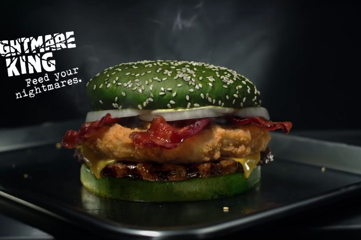 """The all new """"Nightmare King"""" from Burger King is clinically proven to actually induce nightmares."""