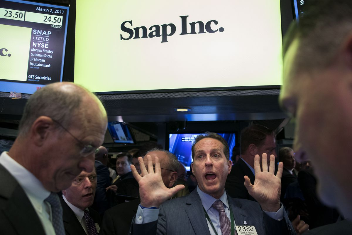 Snapchat Parent Snap Begins Trading On New York Stock Exchange