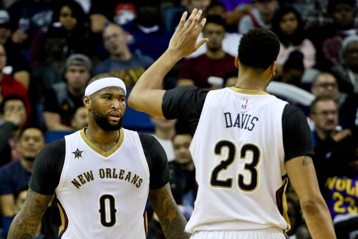 online store b9007 76fb2 DeMarcus Cousins, Rajon Rondo and updated Pelicans uniforms ...