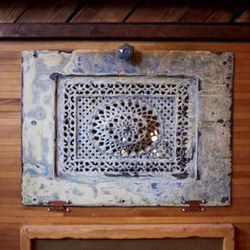 The fireplace plate cover