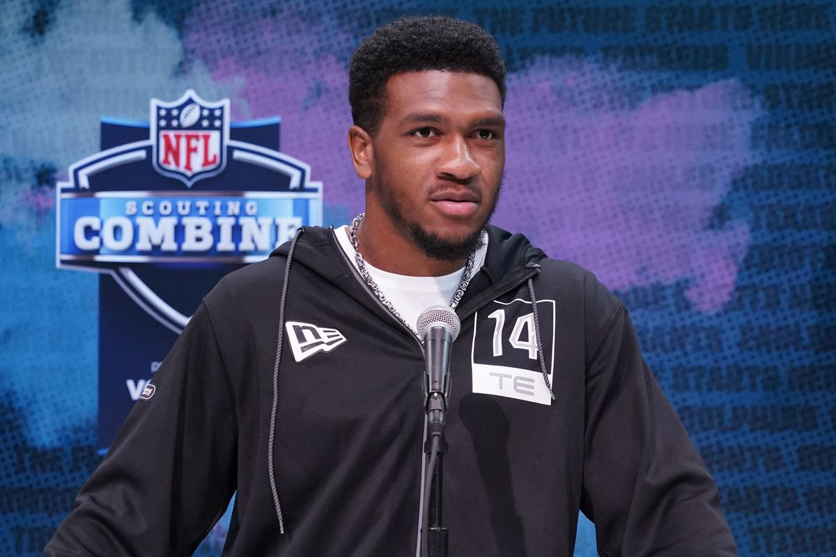 South Carolina Gamecocks receiver Bryan Edwards during the NFL Scouting Combine at the Indiana Convention Center.