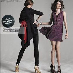 """<a href=""""http://www.saksfifthavenue.com/editorial/FashionStar.jsp"""">Fashion Star Beaded Dress by Luciana Scarabello</a>, $225"""