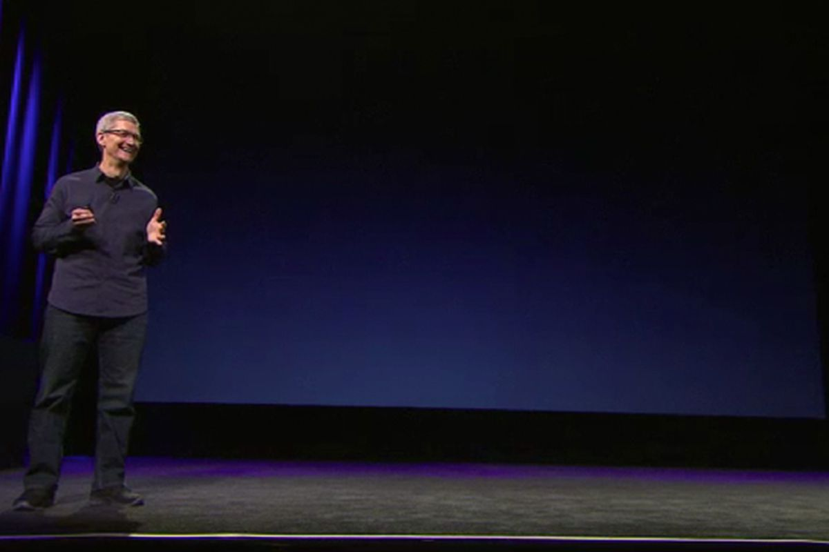 2012 iPad event video screencapture