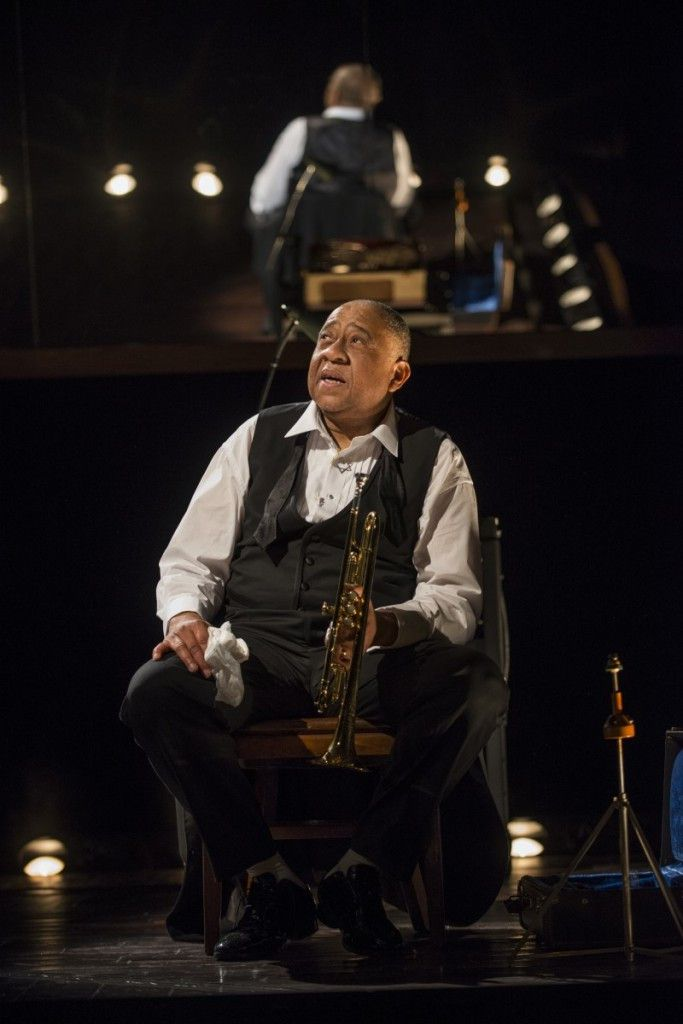 """Barry Shabaka Henley as Louis Armstrong in the Court Theatre production of """"Satchmo at the Waldorf."""" (Photo: Michael Brosilow)"""