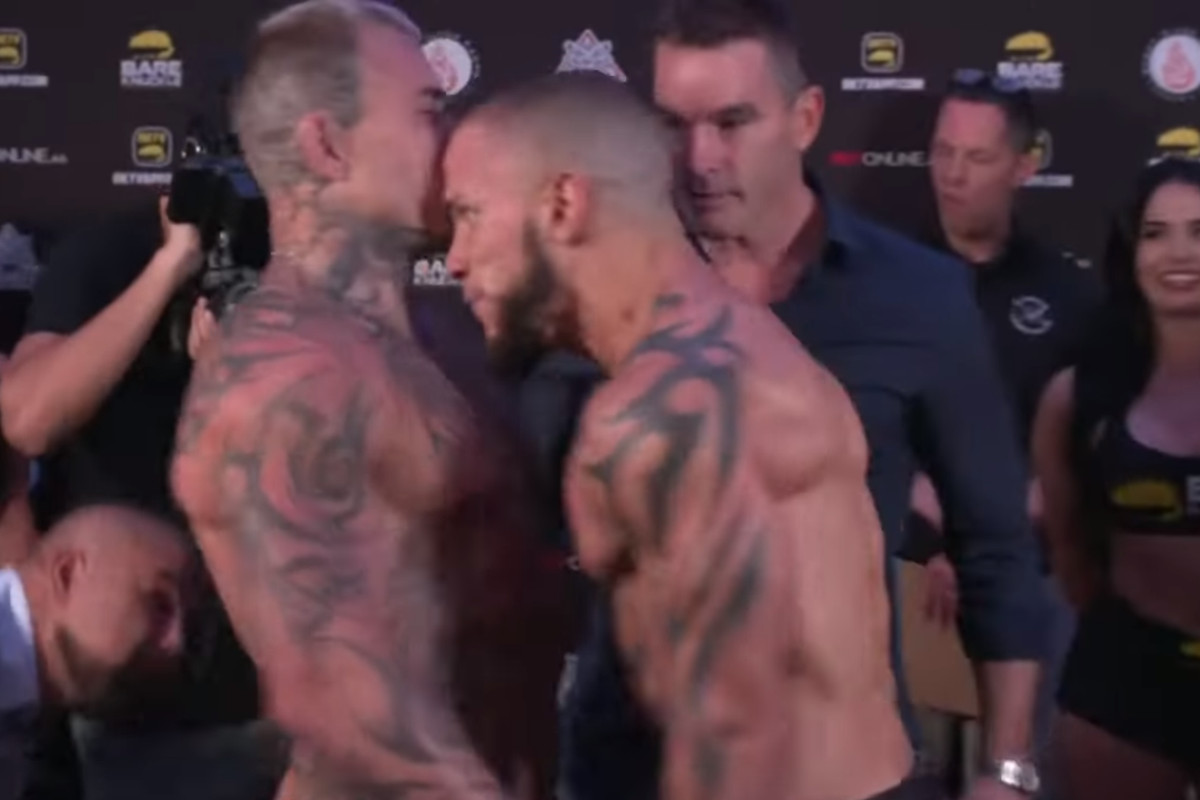 Julian Lane and Jake Bostwick get their bout started early ahead of BKFC 18.