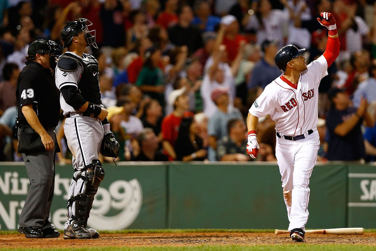 This time, Cody Ross didn't flip his bat for a double.