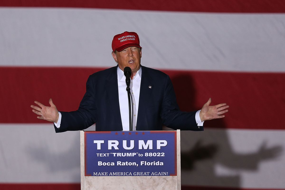 GOP Candidate For President Donald Trump Holds Rally In Boca Raton, Florida