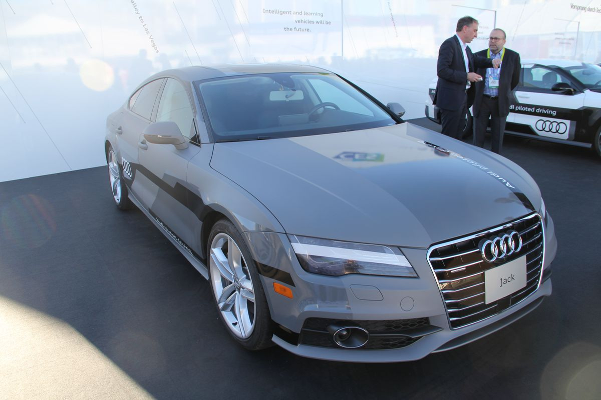This autonomous Audi drove a group of journalists more than 560 miles from Palo Alto, Calif., to Las Vegas for CES this week. All arrived unscathed.