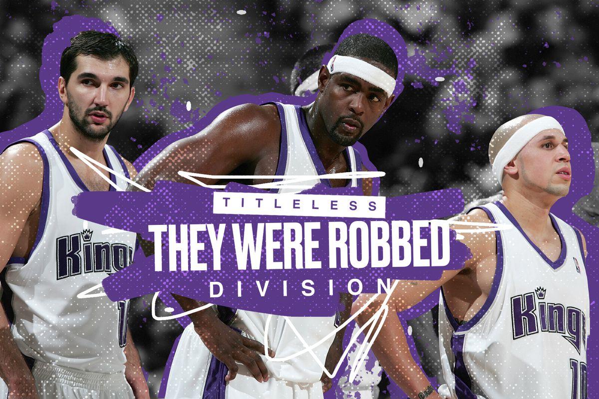 Peja Stojakovic, Chris Webber, and Mike Bibby of the Sacramento Kings.