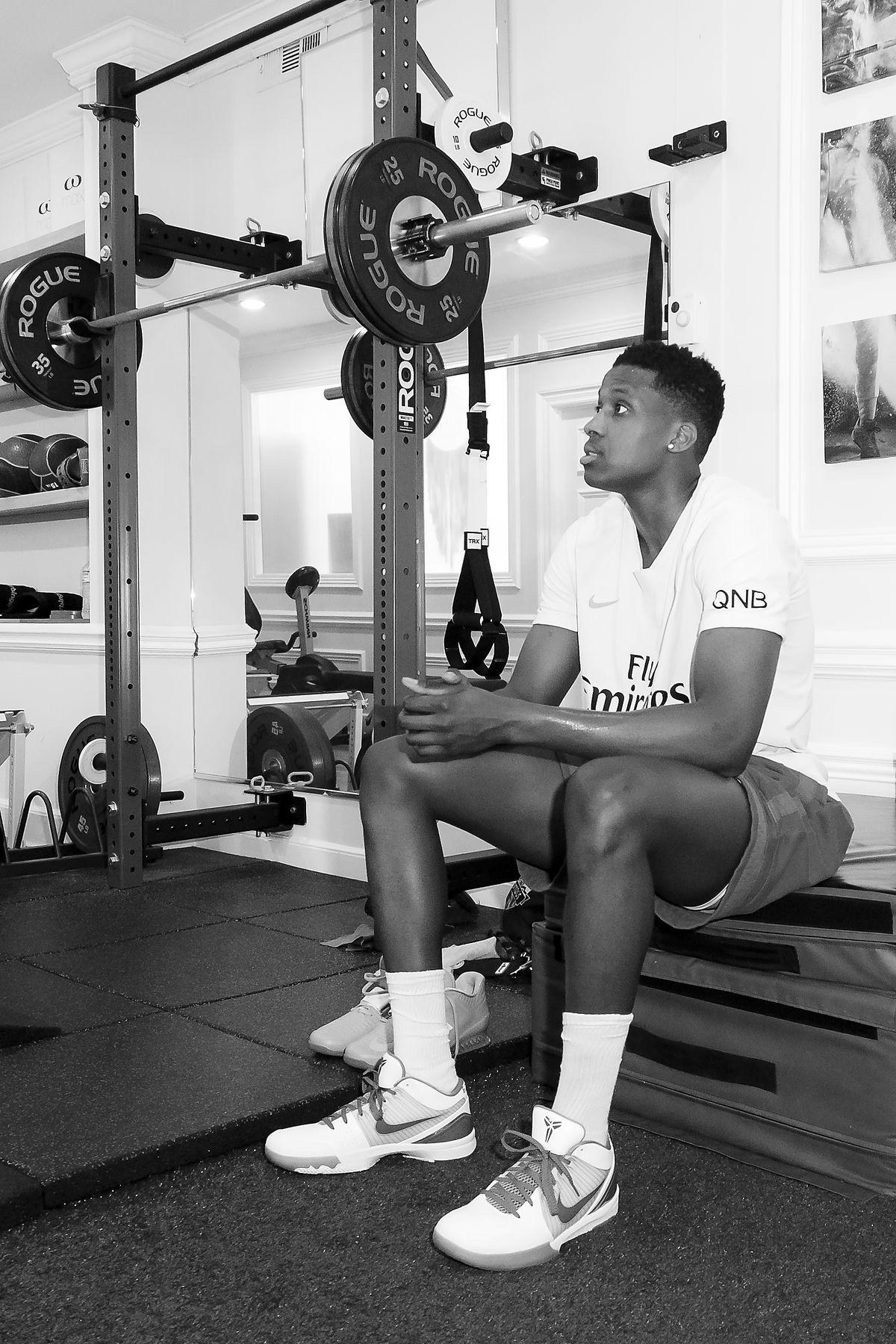 Frank Ntilikina off-season training in Los Angeles