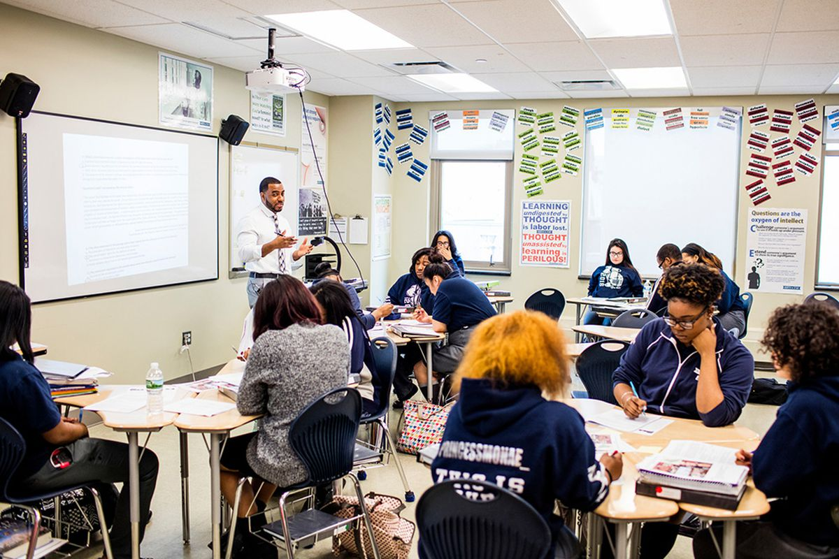 StAn Advanced Placement U.S. History class at North Star College Preparatory High School in Newark is among those recognized by TNTP as offering challenging instruction.