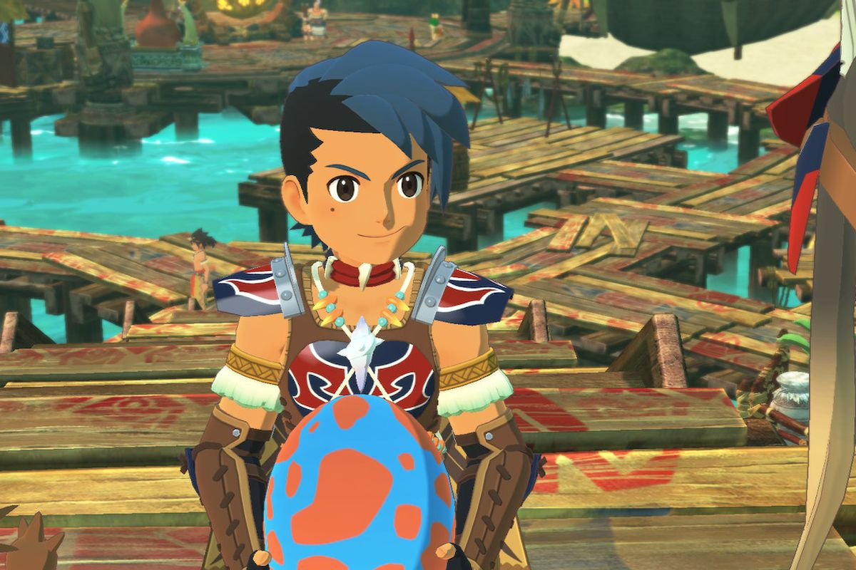 A rider in Monster Hunter Stories 2: Wings of Ruin holds an egg