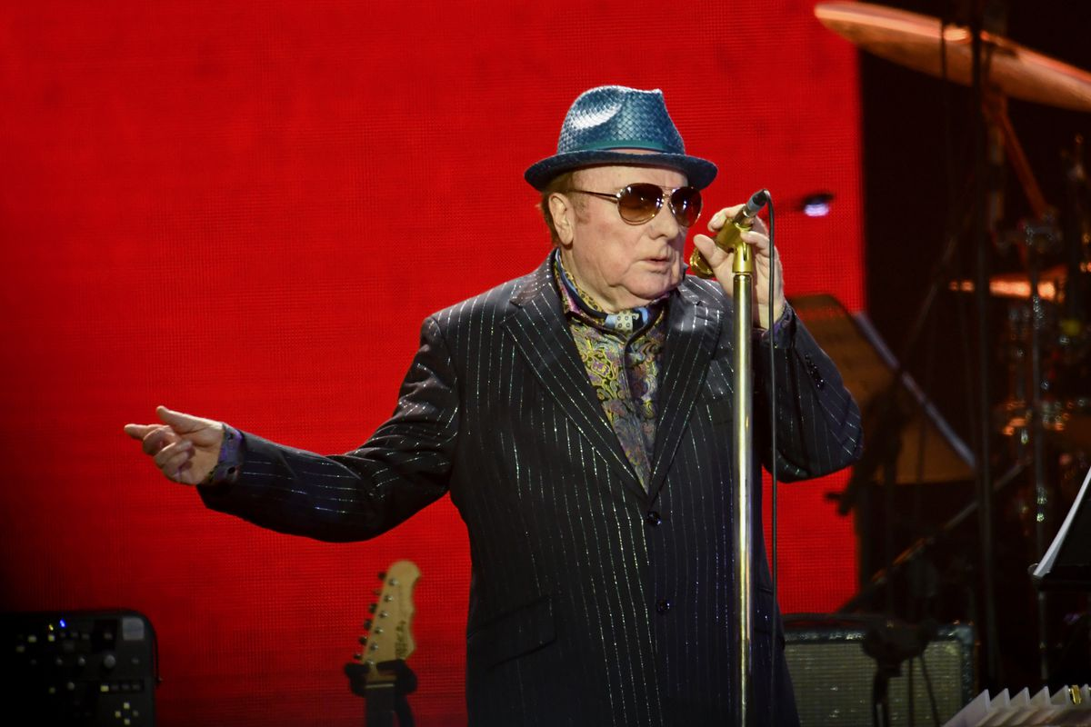 Van Morrison performs on stage during Music For The Marsden 2020 at London's O2 Arena in March.