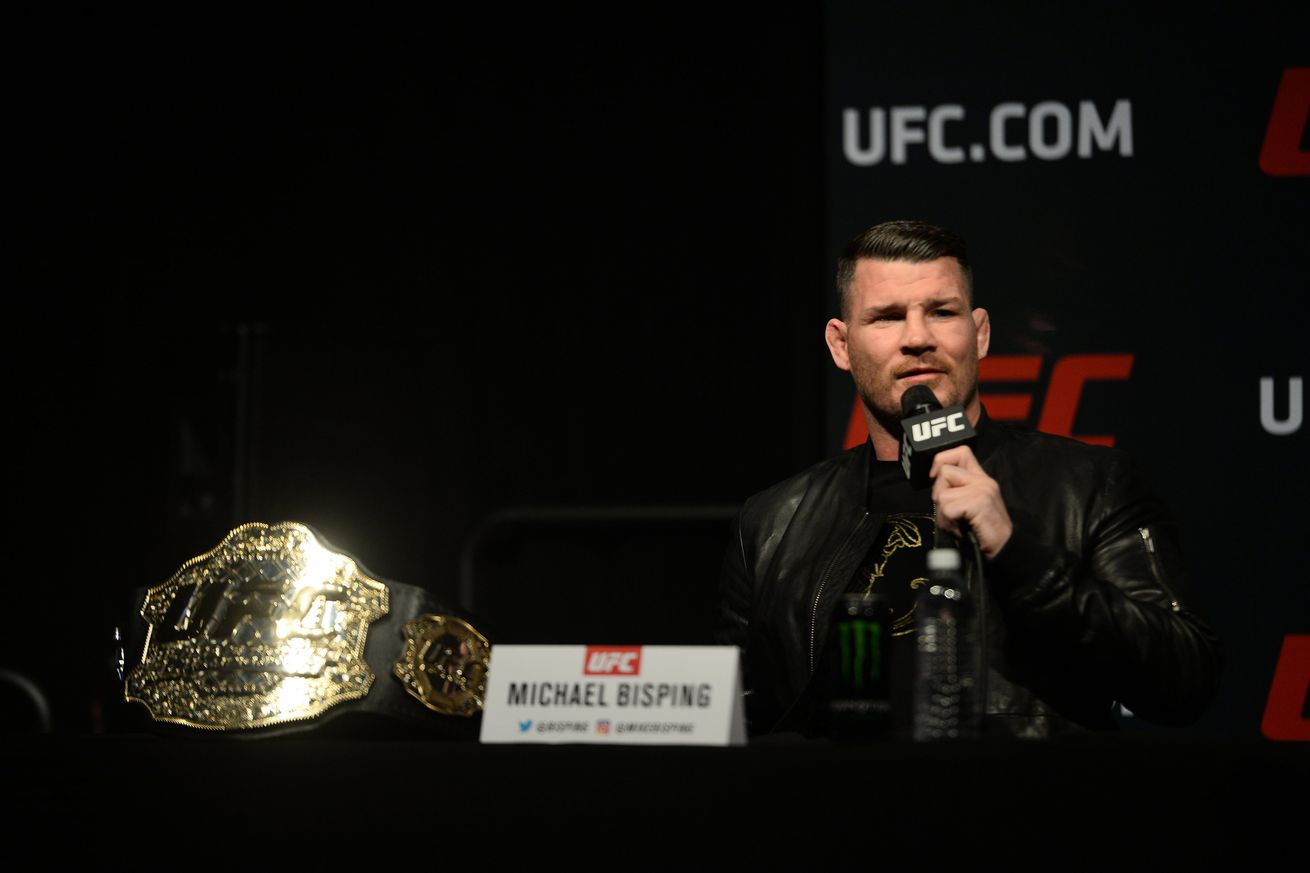 Michael Bisping 'couldn't care less' about the interim middleweight title fight at UFC 213
