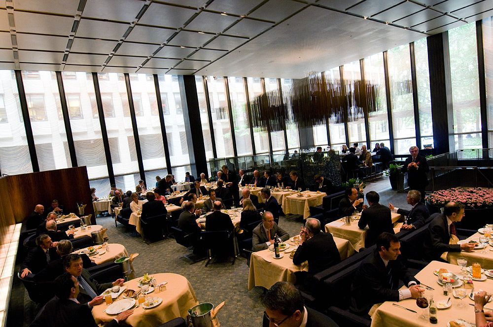 The grill room at the original Four Seasons
