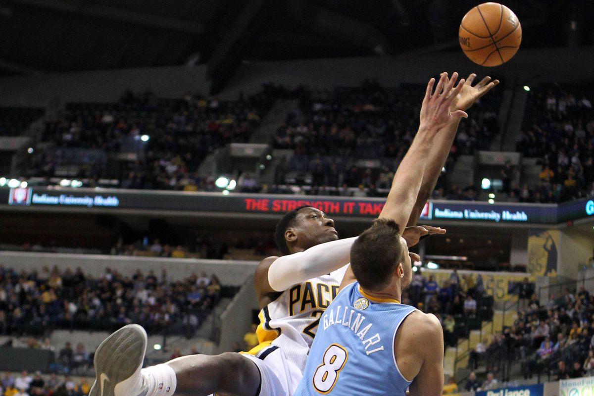 Danilo Gallinari visited Indianapolis in December, but on this date in 2010, Danilo Gallinari helped rout the Pacers.