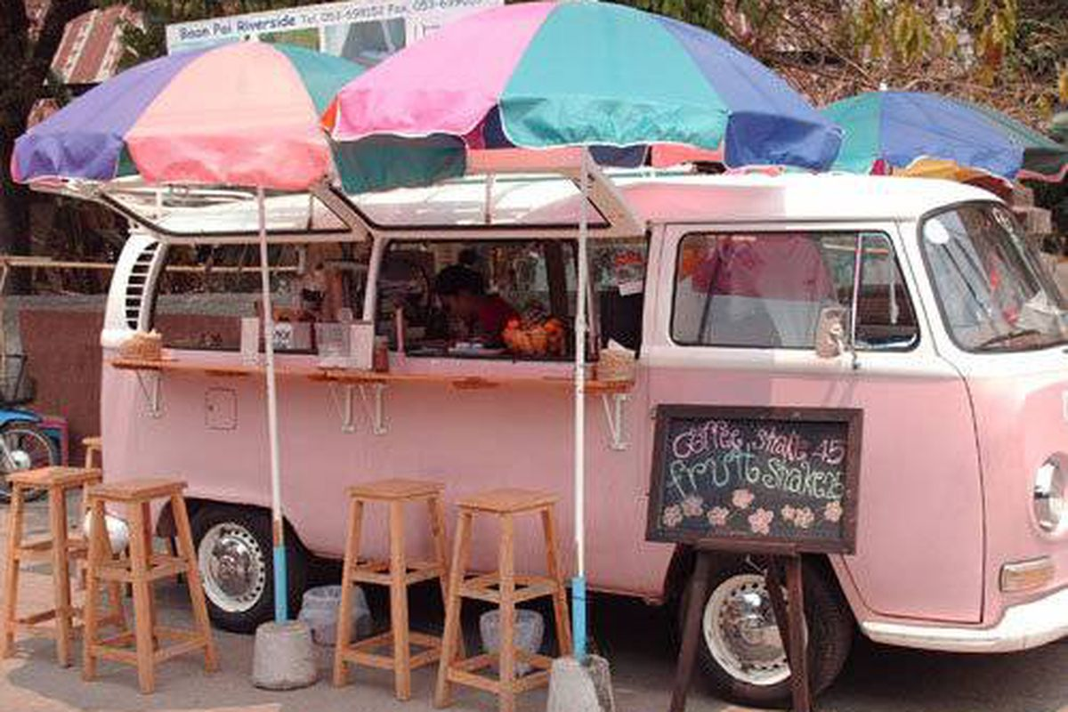 A Food Truck--er, Van With Seating