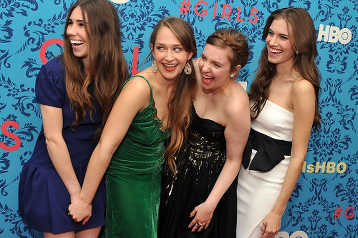 The cast of Girls, via Getty