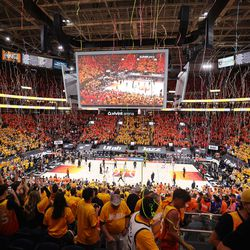 The Jazz win during the NBA playoffs in Salt Lake City on Thursday, June 10, 2021. The Jazz won 117-111.
