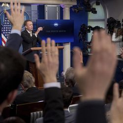 Budget Director Mick Mulvaney takes questions from reporters as he speaks about President Donald Trump's budget proposal for the coming fiscal year during daily press briefing at the White House on March 16, 2017. Religion has played an increasing role in U.S. foreign policy and diplomacy over the last 15 years, but its status at the State Department may be threatened by proposed budget cuts and vacancies within the Office of Religion and Global Affairs.