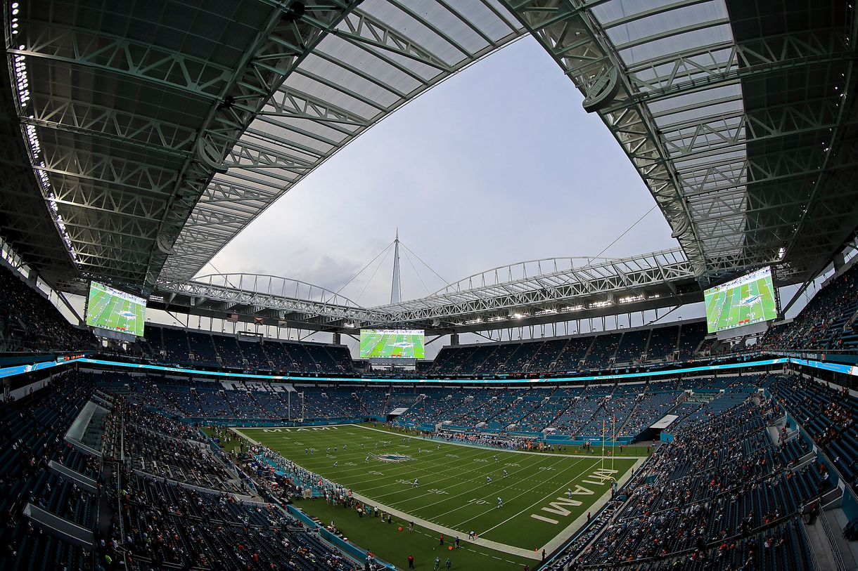 nfl clears hard rock stadium field surface for jets at