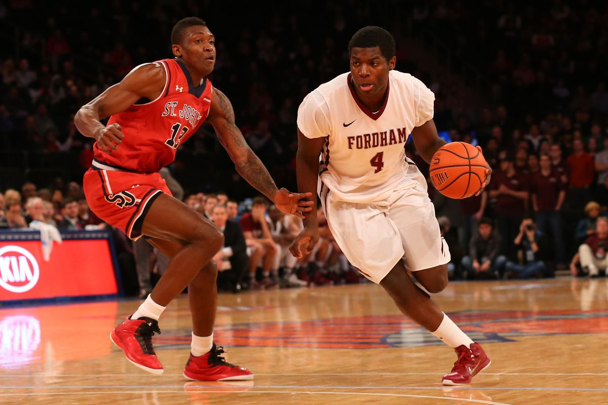 Fordham Guard Eric Paschall (#4) scored 22 points in their first Atlantic 10 Conference victory against the Saint Louis Billikens on Saturday, Feb. 7th, 83-65
