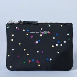 """<b>Comme des Garcons</b> Small Bright Star Zip Pouch in multi, <a href=""""http://shopbird.com/product.php?productid=26031&cat=592&manufacturerid=&page=1"""">$110</a> at Bird"""