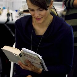 Katharina from Supreme reads a German translation of William Faulkner's A Fable